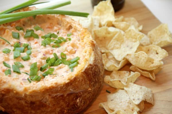 Buffalo Shrimp Bread Bowl Dip from Snappy Gourmet