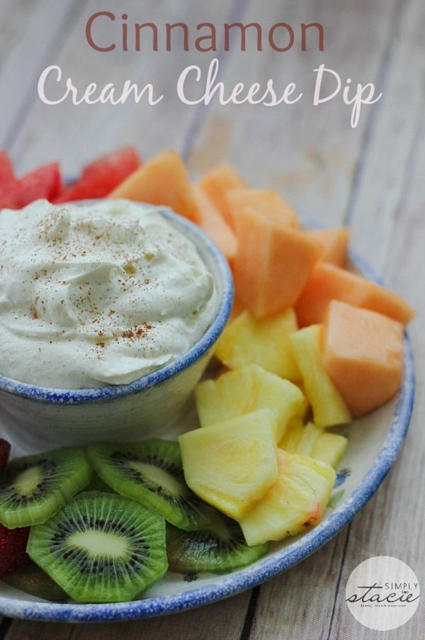 Cinnamon Cream Cheese Dip from Simply Stacie