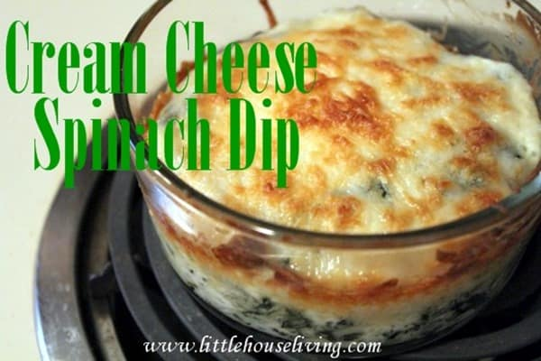 Cream Cheese Spinach Dip from Little House Living