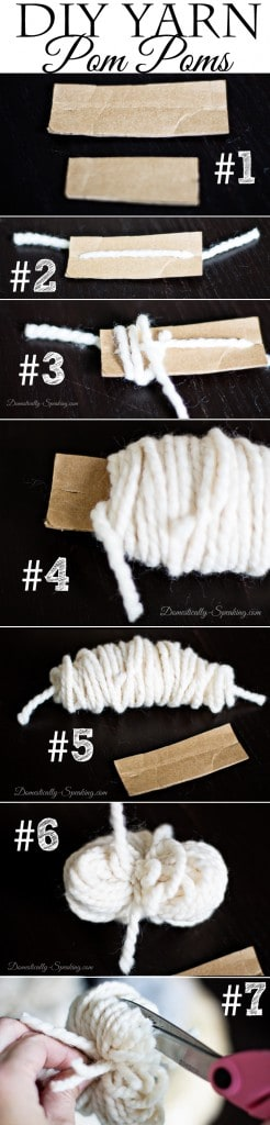 DIY Yarn Pom Poms Learn to Make Your Own