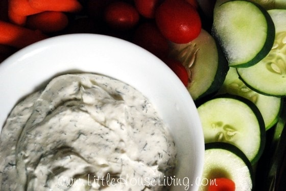 Dill Dip from Little House Living