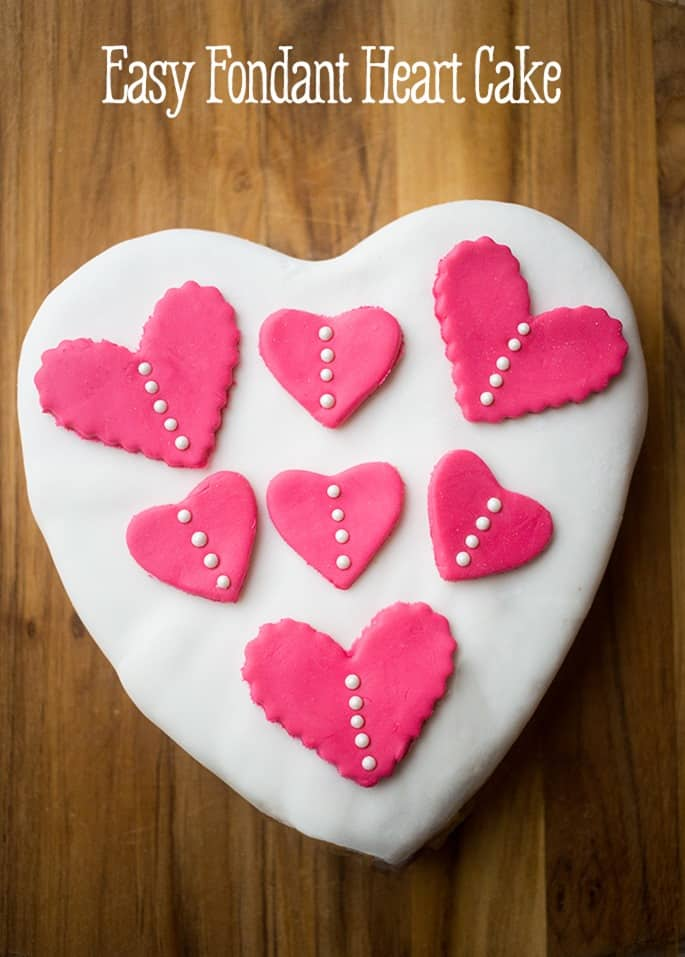 Easy-fondant-heart-cake from Sweet Cs Designs