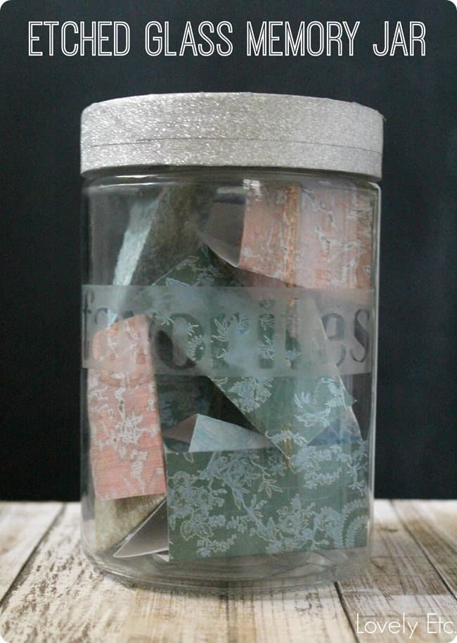 Etched Memory Jar from Lovely Etc.
