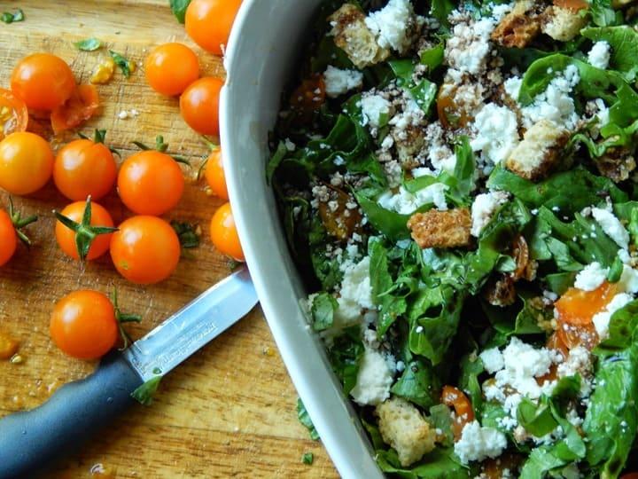 Feta Bruschetta Salad from Melissa Kaylene