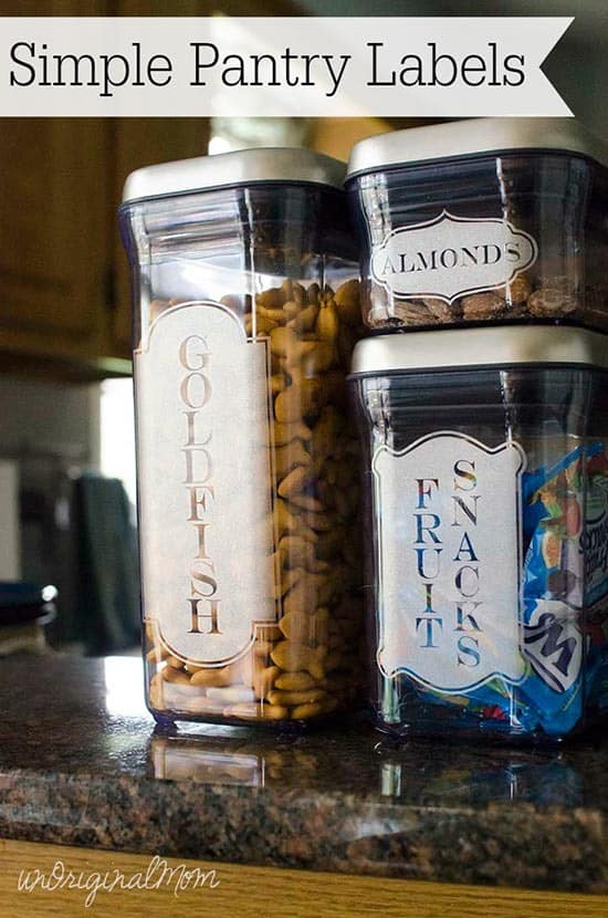 Free Pantry Labels from UnOriginal Mom