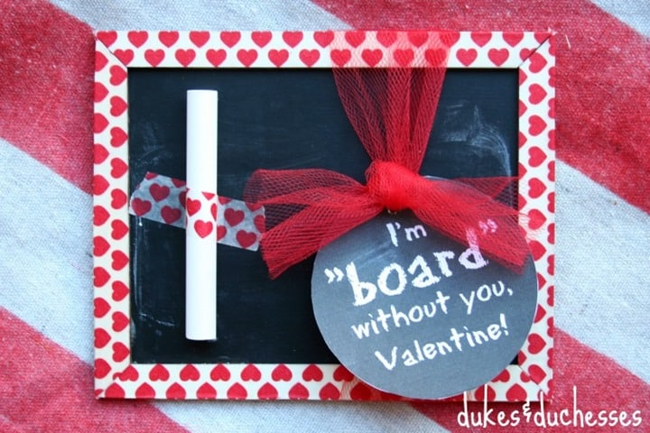 Handmade Chalkboard Valentine from Dukes and Duchesses