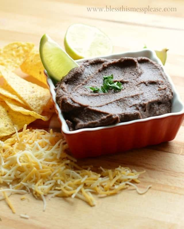 Healthy Black Bean Dip from Bless This Mess Please