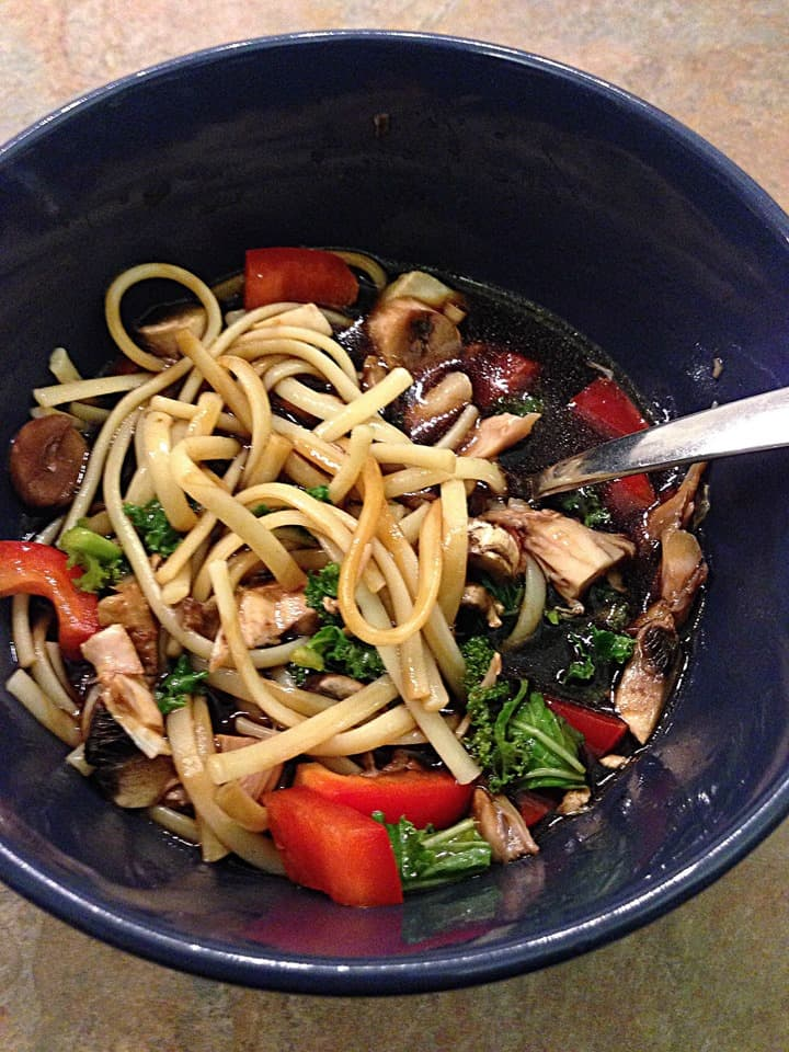 Healthy Homemade Noodle Bowl from Turtles and Tails