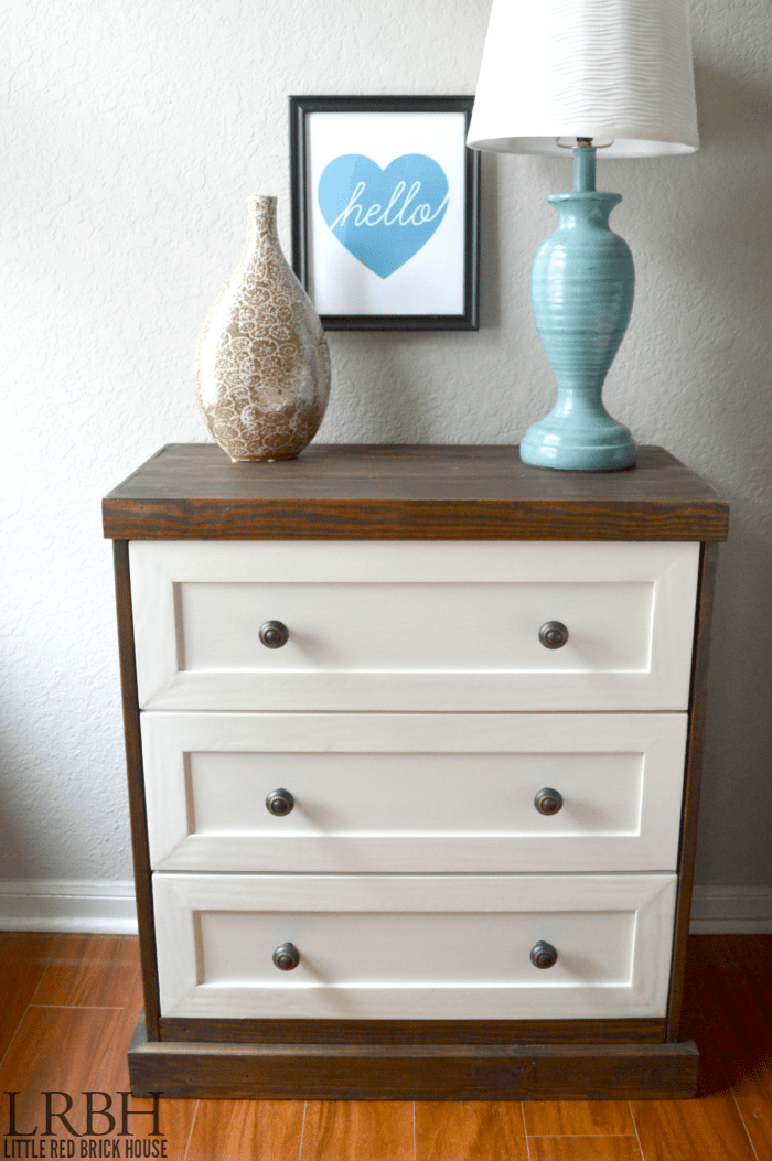 Two Toned Ikea Rast Hack Domestically Speaking
