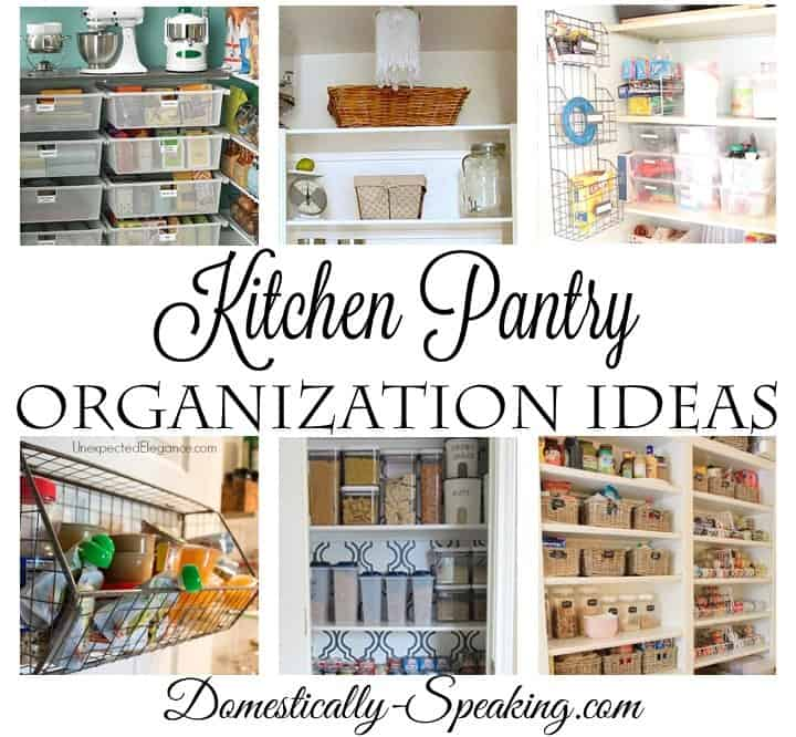Kitchen Pantry Organization Ideas Domestically Speaking Custom Kitchen Pantry Organization Ideas