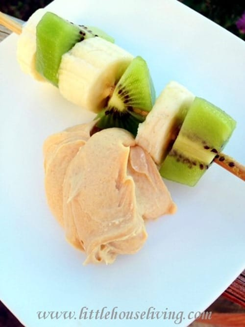 Peanut Butter Fruit Dip from Little House Living