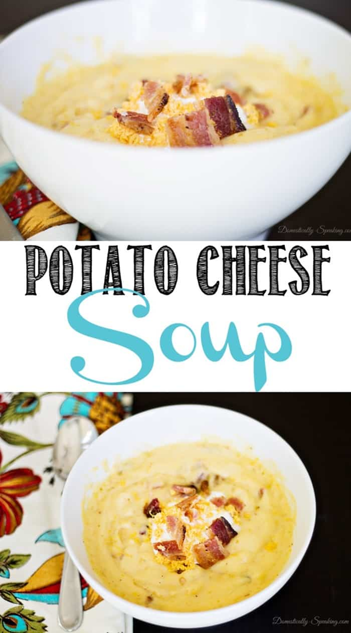 Creamy Potato Cheese Soup - My Favorite Soup