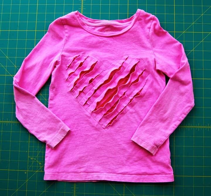 Shredded Heart TShirt from Roonie Ranching