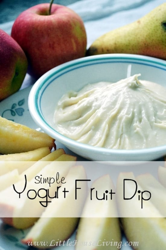 Simple Yogurt Fruit Dip from Little House LIving