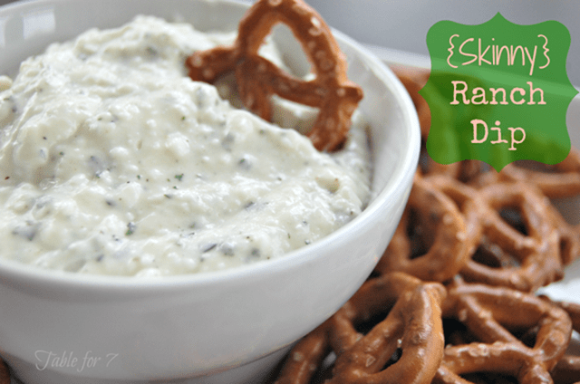 Skinny Ranch Dip from Our Table for Seven
