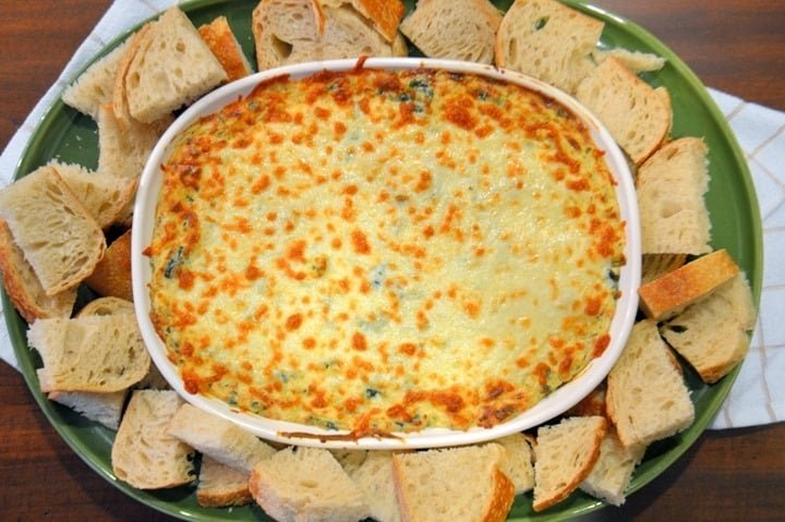 Spinach and Artichoke Dip from Savory Experiments
