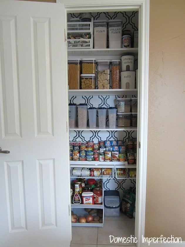 Stenciled Pantry from Domestic Imperfection