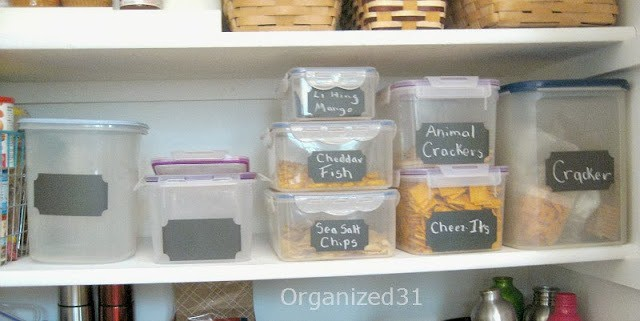 Using Labels to Organize Your Pantry from Organized 31