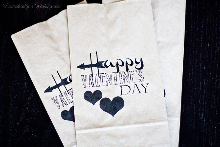 Valentine's Brown Bag Goodie Bag Printable