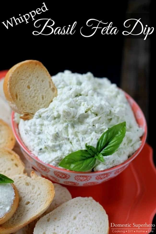 Whipped-Basil-Feta-Dip from Domestic Super Hero