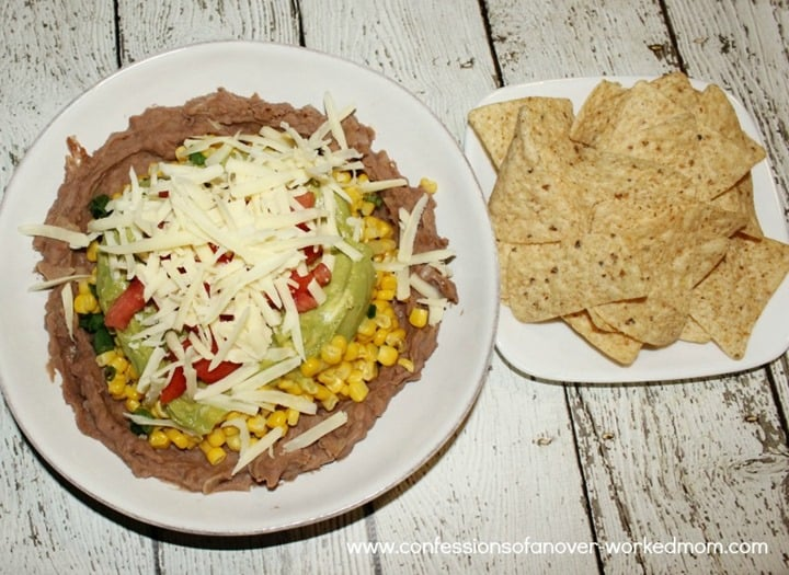 healthy-mexican-dip-recipe from Confessions of an Over Worked Mom