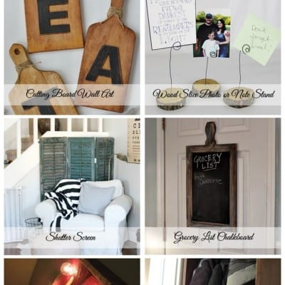 6 DIY Rustic Home Decor Items… Friday Features