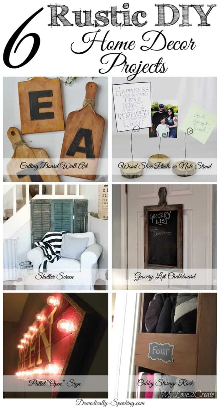 6 diy rustic home decor items friday features domestically speaking Diy ideas for home design