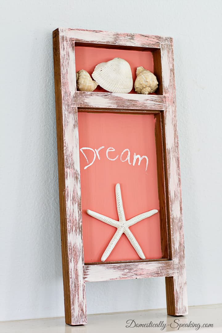 A Beachy Shadowbox A Thrift Store Makeover 1