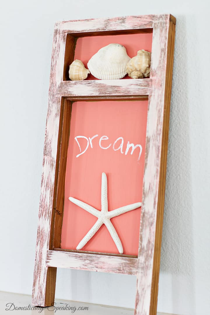 A Beachy Shadowbox A Thrift Store Makeover 2