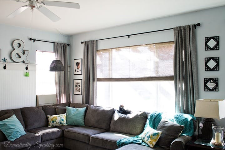 Beautiful Bamboo Blinds in the Family Room 3