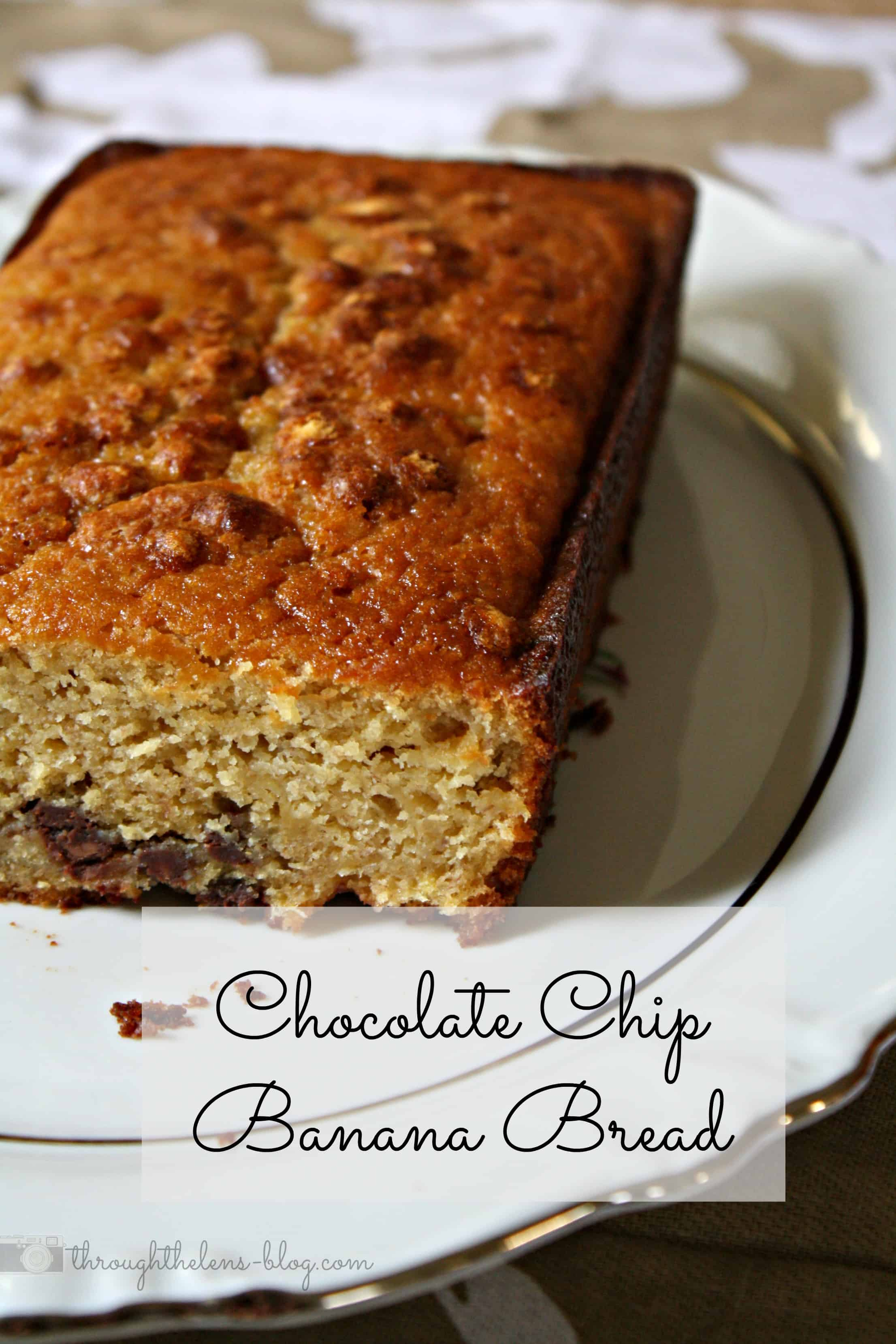 Chocolate Chip Banana Bread - Domestically Speaking
