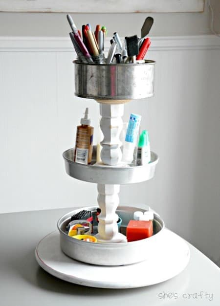 Craft Supply Storage Tower from Shes Crafty