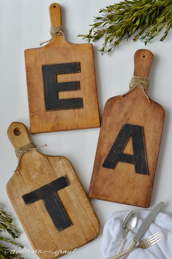 Eat Cutting Board Wall Art from Anderson and Grant