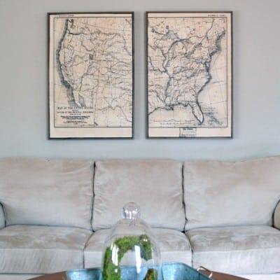 Framed Map Art