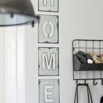 Galvanized Steel Home Sign