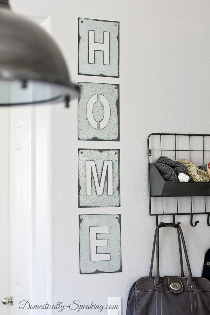 Galvanized Steel Home Sign is an easy way to add some rustic character to your home