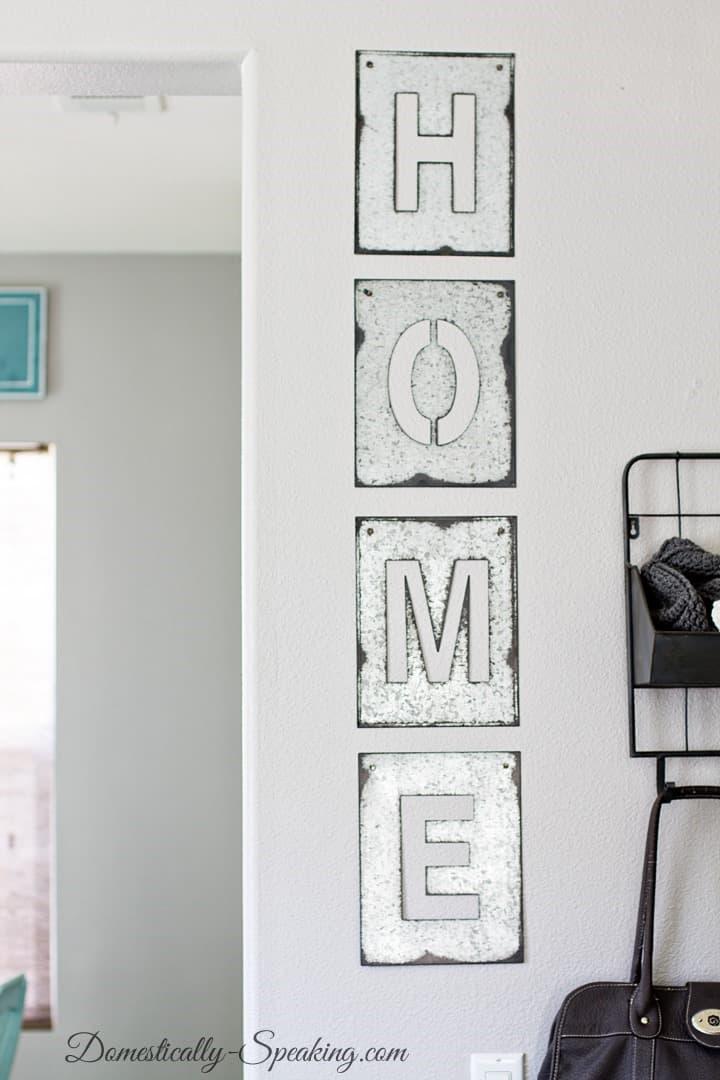Galvanized Steel Home Sign