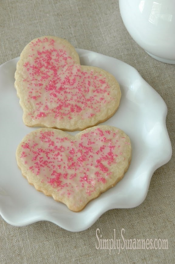 Heart Shaped Sugar Cookies from Simply Suzannes