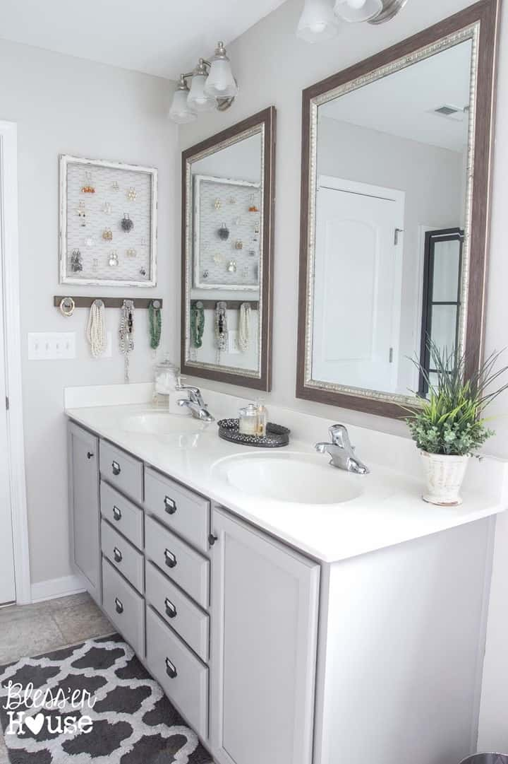 Rustic Bathroom Makeover from Blesser House