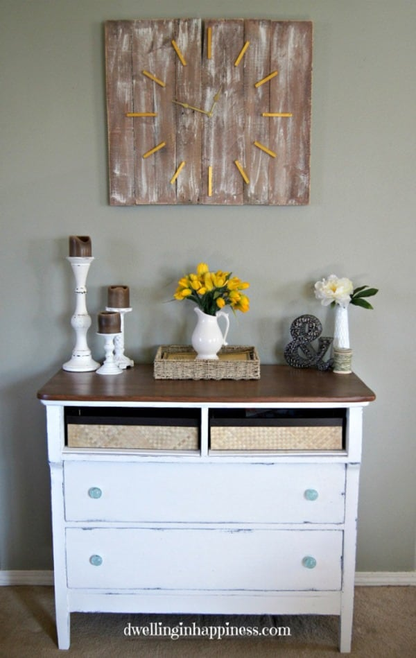 Rustic Entryway Dresser from Dwelling in Happiness