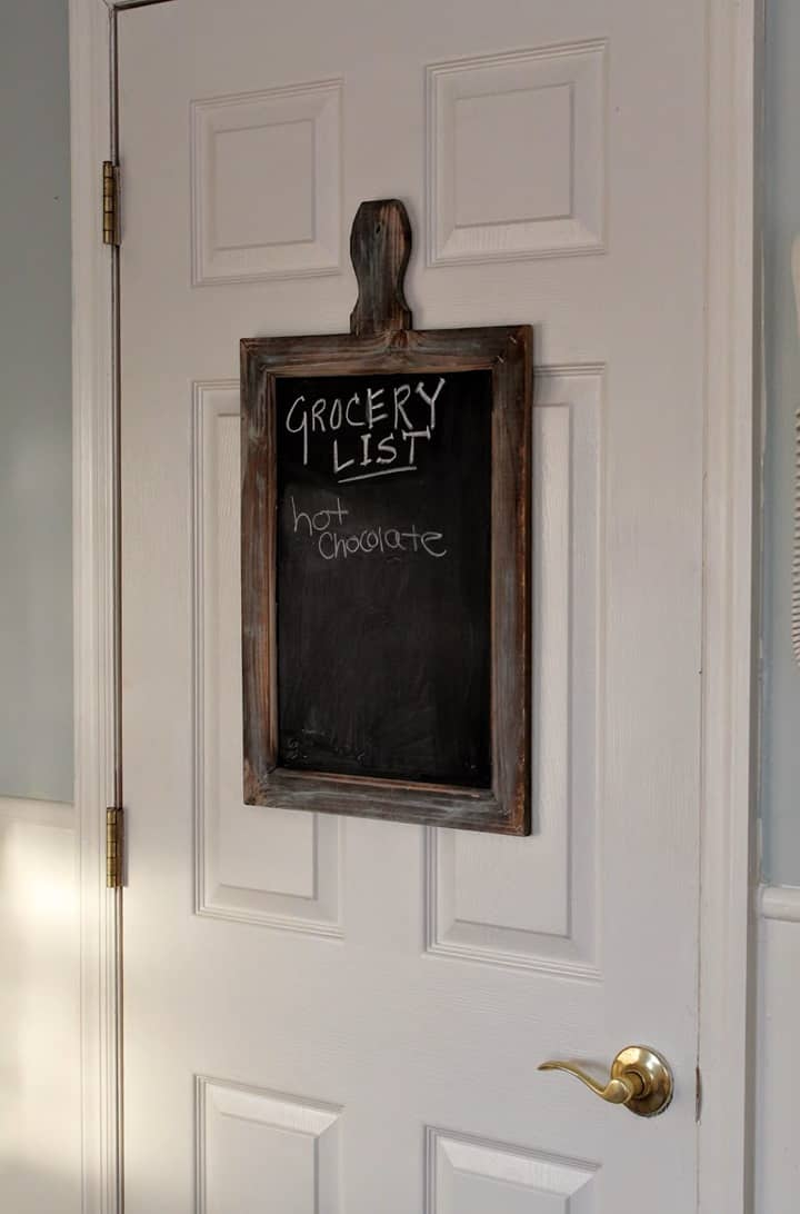 Rustic Grocery List Chalkboard from Love My Simple Home