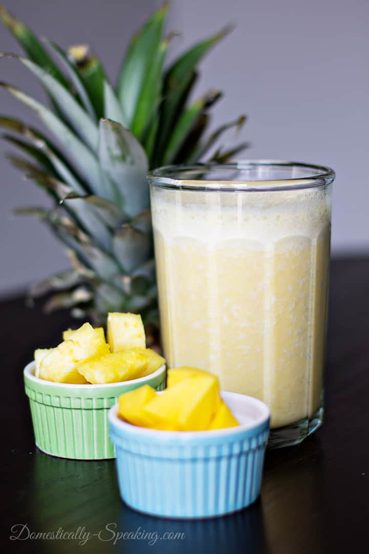 Tropical Smoothie with 100% Florida Orange Juice, Pineapple, Mango and Banana