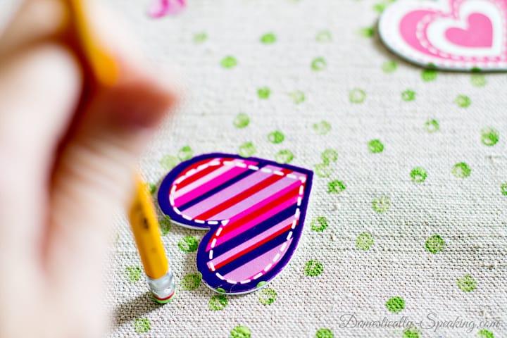 Valentine Polka Dot Heart Pillow 3