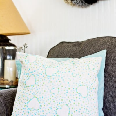 Valentine Polka Dot Heart Pillow