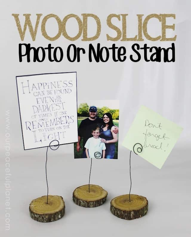 Wood-Slice-Photo-or-Note-Stand from Our Peaceful Planet