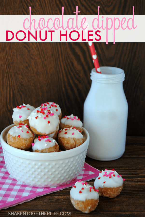 chocolate-dipped-donut-holes from Shaken Together Life