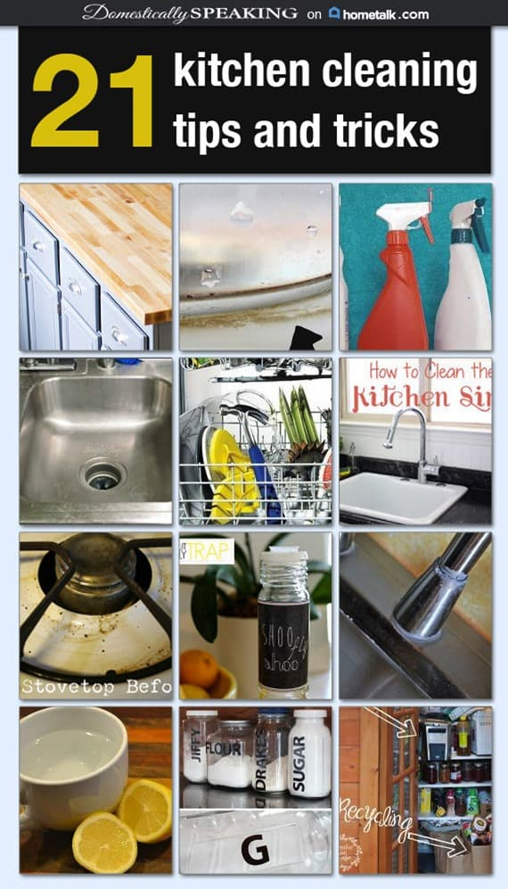 21 Kitchen Cleaning Tips and Tricks