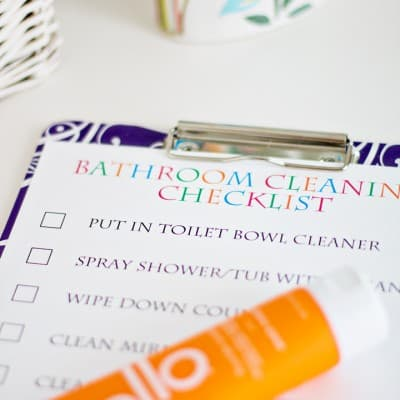 Bathroom Routines… Bathroom Cleaning Checklist with hello
