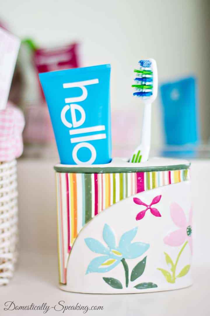 Bathroom Cleaning Checklist with hello 3