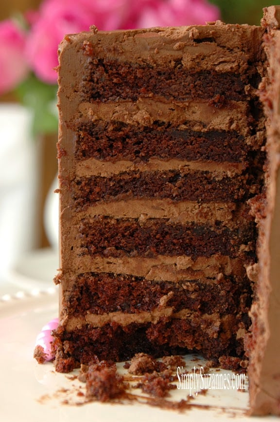 Best Ever Moist Delicious Chocolate Cake from Simpy Suzannes